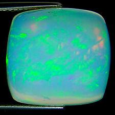 11.44 Ct IGI Certified Natural Ethiopian Cabochon Opal Multi Color Cushion Cut