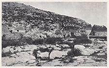 D2017 Paesaggio carsico in Sicilia con capanne di pietra - Stampa - 1923 print