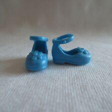 New Barbie Little Sister Chelsea Doll Blue Flower Ankle Strap Shoes