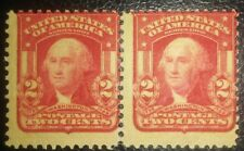 Travelstamps: 1903 US Stamp Scott# 319 Nice Pair Washington Mint MNH OG
