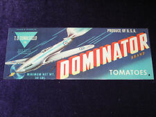 """Dominator Tomatoes Advertising Tin Sign 12"""" Vintage Style"""