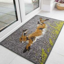 Grey Hare Doormat Mat Washable Non Slip Animal Theme Farm Yard Kitchen Floor Mat