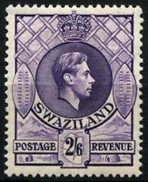 Swaziland 1938-54 SG#36, 2s6d Bright Violet P13.5x13 KGVI MH #D25403