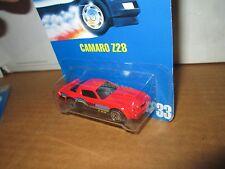 Hot wheels camaro Z28 blue card collector #33 1991