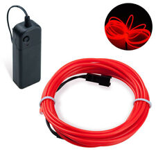 2m Red EL Wire Party Halloween Christmas Neon Glowing Strobing Light Battery