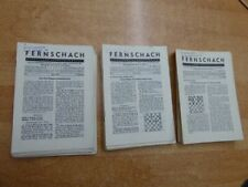 3 komplette Jahrgänge der Zeitschrift Fernschach 1966 + 1967 + 1974 lose