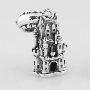 925 Castle silver charm pendant dangle bead For European bracelet bangle chain
