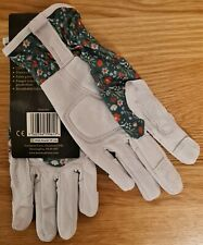 Kent & Stowe Premium Leather Gloves Ladies Size Small S Teal Meadow Flowers