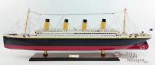"RMS Olympic Sister Ship Titanic Museum Quality Handmade Cruise Ship Model 40"""