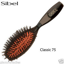 Sibel Classic 75 Oval Cushion Hair Brush Handbag Size With Boar Bristle