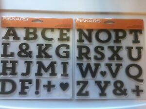 Fiskars Clear Acrylic Stamp Set Full Alphabet of Block Monogram 146720-30 NEW