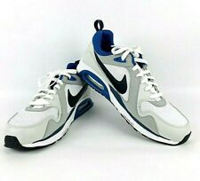 reputable site d74ca 44570 Nike Air Max Lunarlon Size 11.5 NEW 620990-102 Mens Running Shoe White-Blue