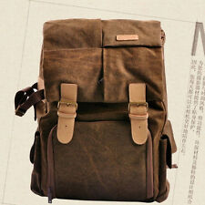 Canvas DSLR Camera Backpacks Bags Shockproof Laptop Rucksack For Canon Nikon New