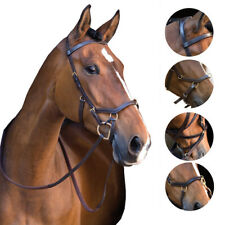 Horseware Brown Snaffle Rambo Micklem Noseband Bitless Bridle Leather Hackmore