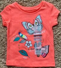 NWT Carterss Baby Girl Butterfly Lifecycle T-shirt, 6 months