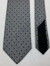 """italo ferretti italy gray mini dot ball pattern silk neck tie 59"""" x 3 5/8"""""""