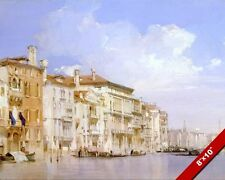 GRAND CANAL OF VENICE ITALY ITALIAN OIL PAINTING ART GICLEE REAL CANVAS PRINT