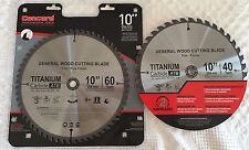 Concord Construction 10-Inch 60 & 40 Teeth TCT General Wood Cutting Blades NIP