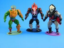 Vintage Masters of the universe (MOTU), He-Man action figure stands (81-88)