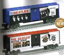 "Beatles Lionel ""O""Gauge TrainsBeatles 2 Boxcar Set Meet The Beatles & 2nd Album"