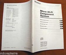 vendo guida originale MANUALE SONY CMT-EP40 CMT EP40 EP30 E301 MICOR HI-FI
