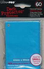 10 x PACKS of Yugioh sized Ultra Pro BABY BLUE Card Sleeves 60ct NEW!