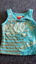 Children's apple bottoms tee shirt, size 4 blue-green