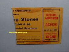Rolling Stones 1975 Concert Ticket Stub Memphis Memorial Stadium J. Geils Band