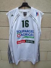 Maillot basket porté n16 ASVEL LYON VILLEURBANNE Adidas match worn shirt LNB XXL