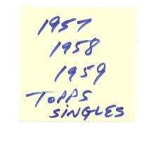 $1.99 ea card w semi stars!, you pick lot from 1957 1958 1959 Topps Baseball set