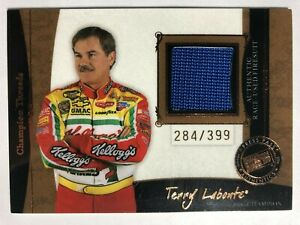 2006 Legends Champion Threads Blue RACE USED FIRESUIT Card #/399 TERRY LABONTE