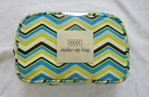 New NEXT Blue Yellow Make Up Bag