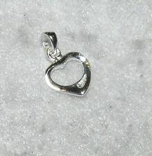 Petite Cut-Out Floating Heart Pendant Sterling Silver