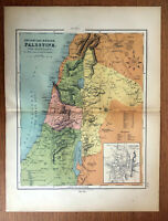 Antique Map Of Palestine 1871