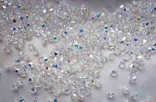 100 Swarovski® Kristall Perlen Xilion Beads 4mm CRYSTAL AB Art. 5328