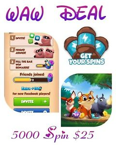 5000 Spin $ 25 # Waw Deal limited time # XP # Pet Food #  Coin Master Spin