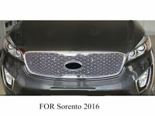 Honeycomb Front Center Grille Grill Cover Stainless for Kia Sorento 2017 2016