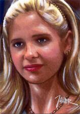 Buffy Vampire Slayer Sarah Michelle Gellar Btvs Sketch Card Print 1 of 15 Art