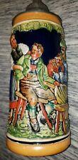 Mint Vintage German Gerz (Early Mark) Tankard Beer Stein Pewter Lid Rare