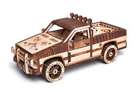 Wood Trick Pickup Truck Car Mechanical Wooden 3D Puzzle Model DIY Kit Gift