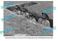 OLD 8x6 PHOTO OXLEY QLDWWII WOMENS ANTI-AIRCRAFT TRAINING SCHOOL c1942 1