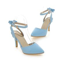 Sexy Womens Casual Sandals Ankle Strap High Heels Shoes Pointed Pumps US Shoes