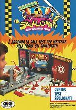 X7200 Gli Sbullonati - Centro Test Sbullonati - Gig - Pubblicità 1992 - Advert.