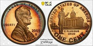 2009-S LINCOLN CENT PRESIDENCY PCGS PR68RD DCAM PENNY TONED #1 FINEST WORLDWIDE