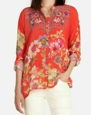 💕$225 JOHNNY WAS ODESSA EMBROIDERED BLOUSE SZ MEDIUM FITS LARGE TOO NEW