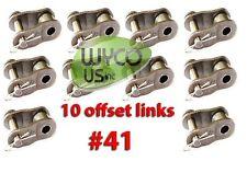 10 Offset Links #41 For Roller Chain #41, Go Karts, Mini Bikes, 4X4, 41