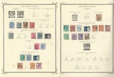 New South Wales Stamp Collection 1850-1906 on 9 Scott Specialty Pages