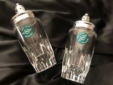 Lenox Used Full Lead Crystal Salt & Pepper Shakers