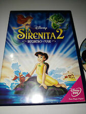 LA SIRENITA 2 - REGRESO AL MAR DVD + EXTRAS WALT DISNEY ESPAÑOL ENGLISH