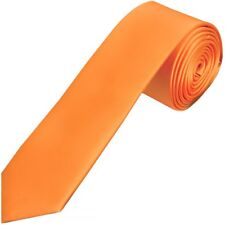 Burnt Orange Satin Skinny Boys Tie Childrens Wedding Tie Kids Prom Tie Neck Tie